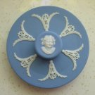 Vintage Wedgwood Jasper Ware Tobacco Jar DAMPER - Pale Blue Cyan