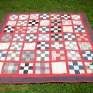 "Vintage American Quilt Top Square Pattern Textile Cloth (Size: 81"" x 83-1/2"")"