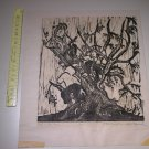 20thc Woodblock Woodcut Print by Barbara Tumarkin Dunham (Artist Proof, Signed)