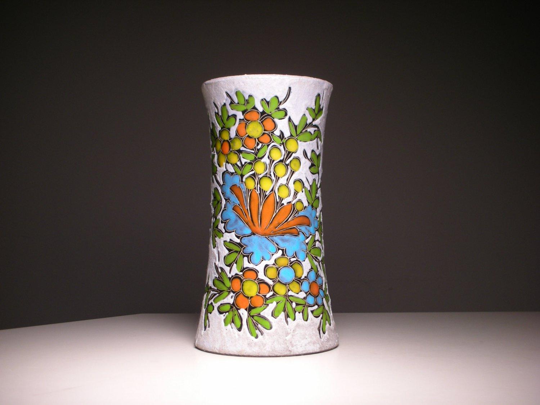 Vintage Italian Franco Rufinelli Assisi Mix-Medium Floral Vase (Signed)