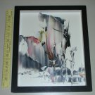 "LOCAL PICKUP ONLY - Mella Naylor Abstract Signed Melania Knife Painting (13"" x 11"") - IDOL"