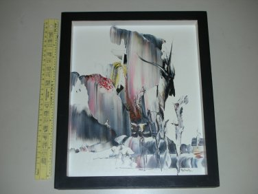 """LOCAL PICKUP ONLY - Mella Naylor Abstract Signed Melania Knife Painting (13"""" x 11"""") - IDOL"""