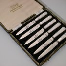 Vintage Cutlass Leppington Sheffield Fruit Knives w/Original Box (6 pcs)