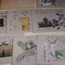 Antique German Christian Religious Scripture Cardboard Painting Portfolio (7PCS)