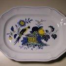 """20thc Spode Copeland England Blue Bird Oval Serving Platter S3274 (14-1/2"""")"""