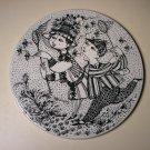Bjorn Wiinblad Nymolle Denmark August Bye-Bye Ceramic Small Wall Plate