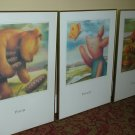LOCAL PICKUP ONLY - 20thc Walt Disney Art Classic Poster Print - Pooh, Piglet, Tigger (3PCS)