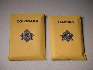 1996 APBA Pro Hockey Board Game PARTS ONLY - Team Colorado & Florida