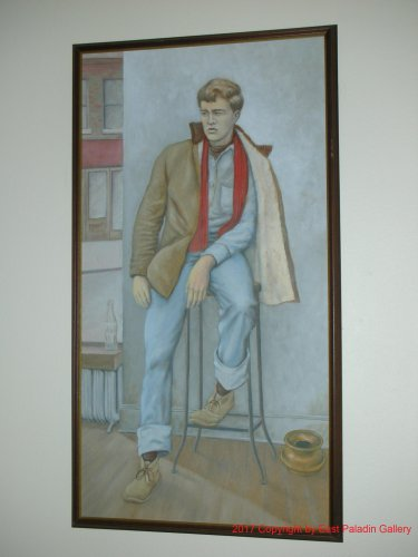 LOCAL PICKUP ONLY - 1942 Original Painting Walter Walt Mazurek Young Man Portrait