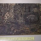 "Original Amateur Woodcut Carving Board - ""Pigs have advanced senses"""