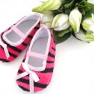 Hot Pink Zebra Print Crib Shoes