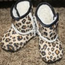 Cheetah Print Crib Boots