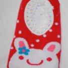 Hot Pink Polka Dot Bunny Socks