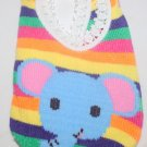 Multicolor Striped Elephant Socks