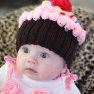 Crochet Cupcake Winter Hat