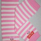 Pink & White Striped Leg Warmers