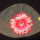 Denim Bucket Hat with Flower