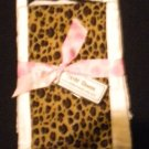 Animal Print Burp Cloth Set