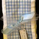 Blue Gingham Burp Cloth Set