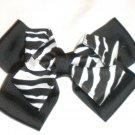 "6"" Zebra Print Stacked Bow"
