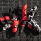 "3"" Mini Korker Barrettes - RED, BLACK & ZEBRA"
