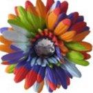 """4"""" Bright Rainbow Daisy Hair Clip"""