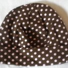 Cotton Beanie - Brown & Pink Polka Dots