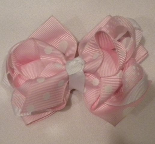"4 1/2"" pink boutique bow"