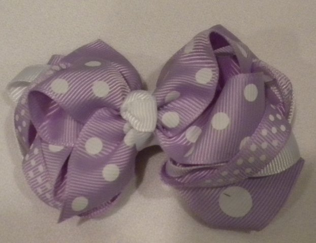 "4 1/2"" lavender boutique bow"