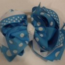 """4 1/2"""" turquoise boutique bow"""