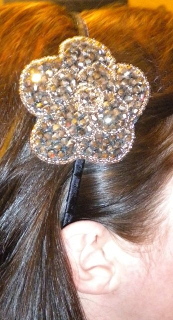 Beaded Flower Headband