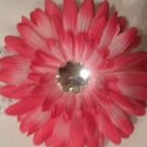 "4"" Hot Pink Daisy Hair Clip"