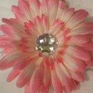 """4"""" Pink Daisy Hair Clip"""