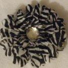 """3"""" Zebra Daisy Hair Clip"""