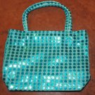 Turquoise Sequin Purse