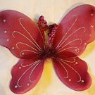 Burgundy Butterfly Wings