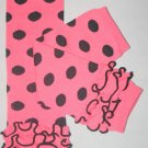 Pink with Black Polka Dot Ruffled Leg Warmers