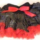 Black Polka Dot and Red Pettiskirt