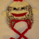 Crochet Sock Monkey Winter Hat