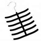 Black Tie Hanger Rack Organizer Hold Up to 12 Ties YL001