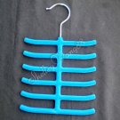 Blue Tie Hanger Rack Organizer Hold Up to 12 Ties YL001-2