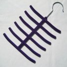 1x New Tie Belt Hanger Rack Organizer Hold 12 Ties Purple YL001-6