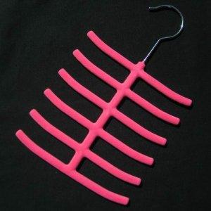 1x New Tie Belt Hanger Rack Organizer Hold 12 Hot Pink YL001-8