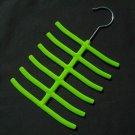 1x New Tie Belt Hanger Rack Organizer Hold 12 Green YL001-11