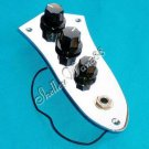 PREWIRED JAZZ BASS CONTROL PLATE ASSEMBLY KNOBS POTS Fit Fender A0156