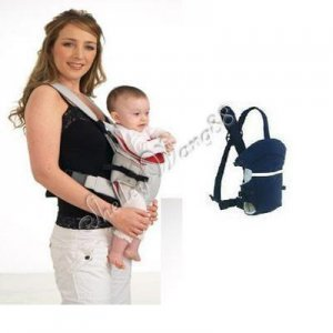 New Fashion Baby Carrier Cotton Infant 3 Positions Front & Back Backpack Blue A0048
