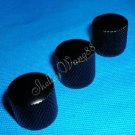 3PCS BLACK METAL DOME Guitar/Bass KNOB for Fender Tele 10204