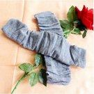 Fashion Women fingerless Long Gloves Arm Warmers Grey A0043