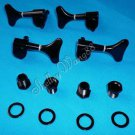 GOTOH SYTLE BLACK BASS TUNERS TUNING PEGS SET 4 (2L+2R) 10240