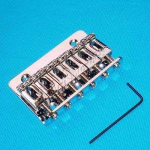 Guitar Parts Chrome 6 Saddle HARDTAIL BRIDGE Top Load 10167